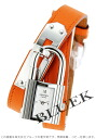 HERMES Kelly do bulldog Tours leather orange / silver Lady's 025743WW00