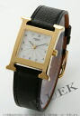 HERMES H watch leather black /GP white Lady's HH1.201.130/UNO