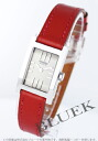HERMES tandem leather red / silver Lady's TA1.210.280/GRM M2