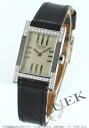 HERMES tandem diamond bezel leather black / silver Lady's TA1.230.280/INO