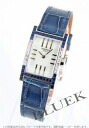 HERMES tandem WG pure gold blue sapphire & diamond leather blue / white shell Lady's TA1.294.213/ZRY-M2