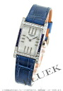 HERMES tandem WG pure gold diamond & blue sapphire leather blue / white shell Lady's TA1.298.213/ZRY-M2
