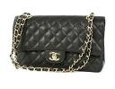 CHANEL CHANEL matelasse line caviar skin shoulder bag black A1112