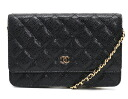CHANEL CHANEL matelasse line caviar skin shoulder bag black & Bordeaux A33814