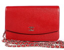 CHANEL CHANEL here mark caviar skin shoulder bag rouge red A46316