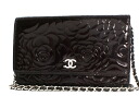 Chanel Camellia enamel shoulder bag Black & Silver A47421