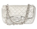 Chanel CHANEL cruise line quilting soft Cafe shoulder bag silver A49181
