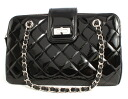 Chanel CHANEL 2.55 series enamel shoulder bag black A50297