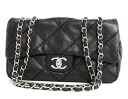CHANEL CHANEL lambskin quilting shoulder bag black A50851