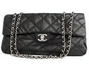 CHANEL CHANEL lambskin quilting shoulder bag black A50853