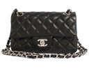 Chanel CHANEL matelasse line caviar skin shoulder bag black & Bordeaux & silver A65055