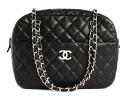 Chanel CHANEL matelasse line caviar skin shoulder bag black & Bordeaux & silver A65344