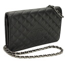 CHANEL CHANEL matelasse lambskin shoulder bag black A80113