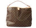 Louis Vuitton LOUIS VUITTON Monogram delightful MM shoulder bag dark brown M40353