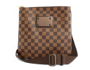 Louis Vuitton LOUIS VUITTON ダミエポシェット Pratt Brooklyn shoulder bag dark brown N41100