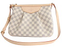 Louis Vuitton LOUIS VUITTON ダミエアズールシラクーサ PM shoulder bag white N41113