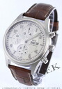 IWC spirit fire automatic chronograph alligator leather brown / silver men IW371702