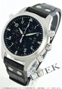 IWC pilot's watch chronograph automatic with crocodile leather black mens IW377801