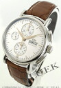 IWC Portofino automatic chronograph with crocodile leather Brown / silver mens IW378302