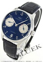 IWC Portuguese automatic 7 days... leather Navy & silver men's IW500112