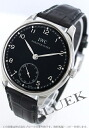 IWC Portuguese hand winding small second alligator leather black mens IW545407