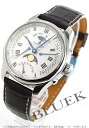 Longines master collection automatic retrograde Moonphase Leather Brown / silver mens L2.738.4.71.3 watch clock