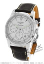 Longines Imier automatic chronograph with crocodile leather Brown / silver mens L2.784.4.72.0