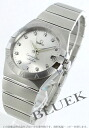 Omega Constellation diamond index chronometer automatic silver mens 123.10.38.21.52.001