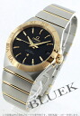 Omega Constellation YG Combi chronometer automatic black mens 123.20.38.21.01.002