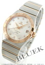 Omega Constellation RG pure gold diamond index co-axial chronometer silver mens 123.20.38.21.52.001