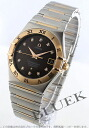 95 1301.60 オメガコンステレーション RG combination diamond index chronometer brown men