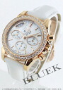 Omega-Devil RG pure gold DIA Basel co-axial chronograph leather white shell Womens 422.58.35.50.05.002