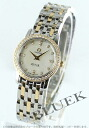 Ladies Rakuten Japan sale ★ Omega-Devil prestige diamond diamond watch 4375.75 YG duo white shell mini