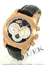 4656.50.31 オメガデビルコーアクシャル RG pure gold chronoscope chronometer chronograph alligator leather black / silver men