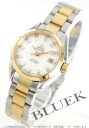 Rakuten Japan sale ★ Omega Seamaster Aqua Terra YG Combi diamond index white shell Womens 231.20.30.20.55.002
