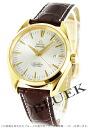Omega Seamaster Aqua Terra YG Wilsdorf coaxial Leather Brown / silver mens 2602.30.37 watch clock