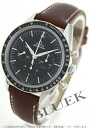 Omega Speedmaster Moon watch hand wound chronograph leather brown / black men's 311.32.40.30.01.001