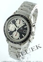 3210.51 omega speed master chronometer chronograph date black & silver men