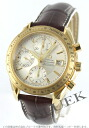 Omega Speedmaster date chronometer YG pure gold Leather Brown / silver mens 323.53.40.40.02.001