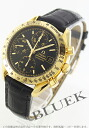 Omega speed master YG pure gold automatic chronograph leather black men 3613.53.01