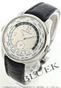 Girard-Perregaux world timer WW. TC automatic small second leather Black / Silver mens 49865 - 11 - 735SBA6A