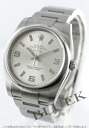 Rolex Ref.114200 Air-King Watch Silver Arabic pink mens