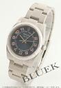 Rolex Ref.114210 エアキングエンジンターンドベゼルブルーアラビアメンズ