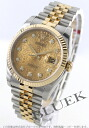 Rolex Ref.116233 date just YG combination diamond index gold men