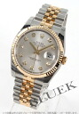 Rolex Ref.116233G Datejust diamond index YG Combi silver mens