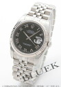 Rolex Ref.116234 Datejust WG bezel 5 breath men's Black Roman