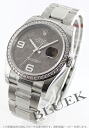 Rakuten Japan sale ★ Rolex Datejust Ref.116244 DIA bezel flower Brown Arabian men