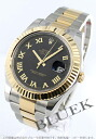 Rolex Ref.116333 date just YG combination black long novel men