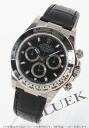 Rolex Ref.116519 Cosmo graph Daytona WG pure gold alligator leather black men