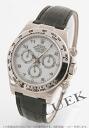 Rolex Ref.116519 Cosmo graph Daytona WG pure gold black co-leather black / white Arabia men